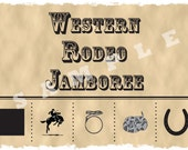 Custom Listing for Joelle - Rodeo Punch Card
