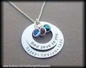 Hand Stamped Personalized Silver Necklace  God Gave Me You  New Baby, New Mother, Adoption, Wedding, Husband