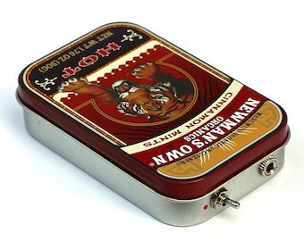 Portable Altoids Amp and Speaker for iPhone MP3 Player -Tiger/Red
