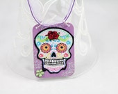 Sugar skull statement necklace - one of a kind