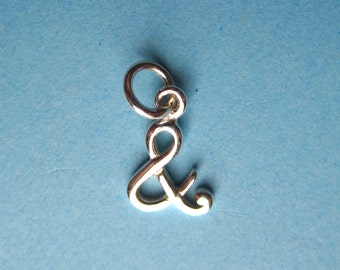 Sterling Silver Ampersand  Charm