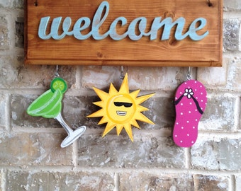 Summer Ornaments II for Welcome Board