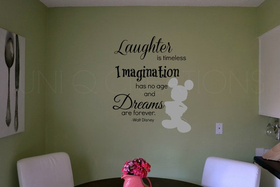 Wall Art Quotes Disney : Transparent disney quote vinyl ready wall art by uniqcreations