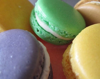 Naturally Gluten Free!! 20 Luscious French Macarons: Handmade and You Choose Colors and Flavors