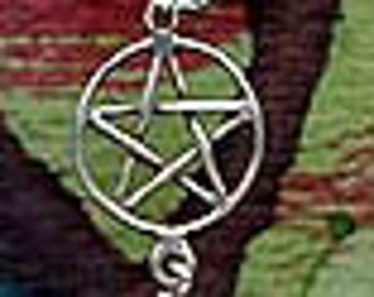 Witchy Butterfly Pentacle Pentagram Ear Cuff Sterling Silver PnecBtrf