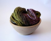 Handspun Navajo Ply Fiber Mix Yarn Hand Dyed -The Doctor 183 yards Worsted Weight