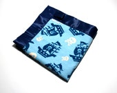 Baby Boy Security Blanket | Flannel Baby Blanket | Pirate Ships & Skulls | Lovie | Baby Blanket | Made in America
