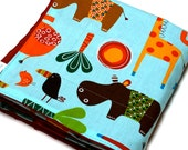 Baby Blanket | Jungle Animals Blanket | Minky Baby Blanket | Baby Boy Blanket | Stroller Blanket | Newborn Gift | Made in NH USA