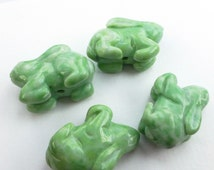 DiScOuNtEd PrIcE AMAZONITE. Natural RaBBIT BEAd. Hand Carved. Animal Fetish Bead. Cute and detailed. 1 pc. 43.0 cts. 11x28x18 mm  (Amz101)