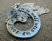 It is well with my soul - hand stamped spiral necklace  -Made to Order-