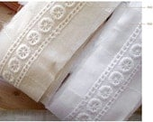 cotton eyelet lace by the yard (width 3.5cm) 54411