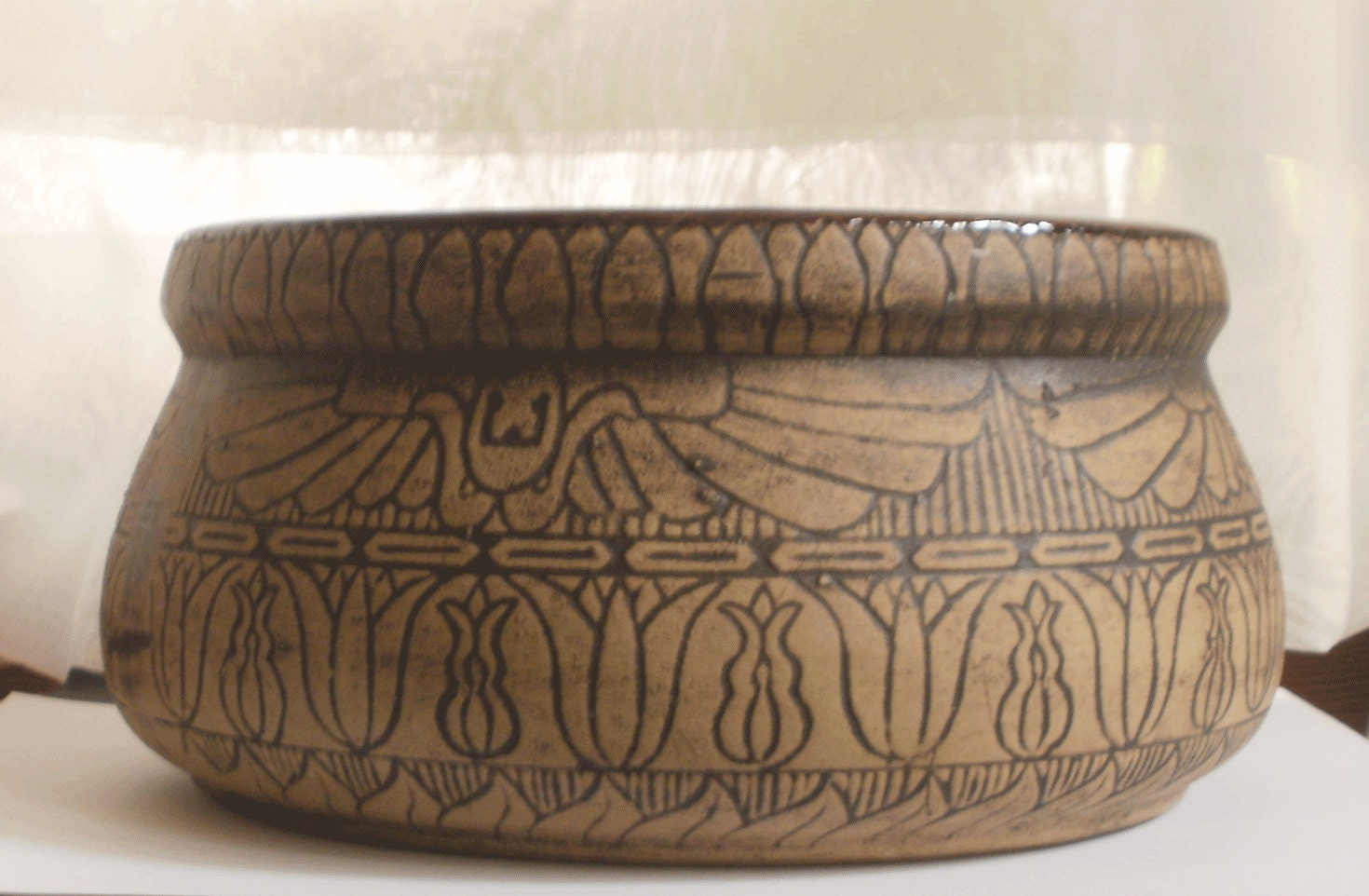 1927 Monmouth Pottery Western Stoneware Co Burntwood Series