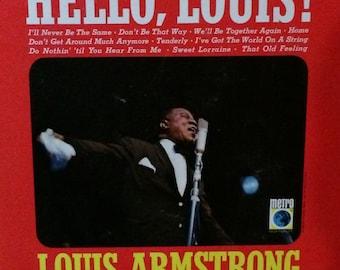 Hello Louis! Louis Armstrong Rare Vinyl LP