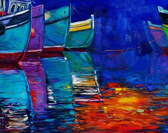 Original Oil painting-Contrast2 23in x 16in,Landscape Painting Original Art Impressionistic OIl on Canvas by Ivailo Nikolov
