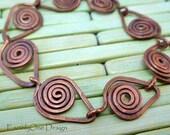 Healing Spiral Copper Link Bracelet