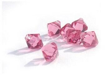 Pink Crystal Top Drilled Beads Swarovski 6301 6mm (12)