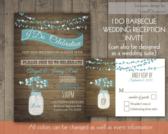 Reception Only Wedding Invitations: I Do BBQ Wedding Reception Invitation Wedding By