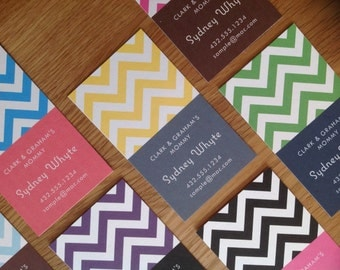 Chevron Mommy Cards or Calling Cards  - Set of 20