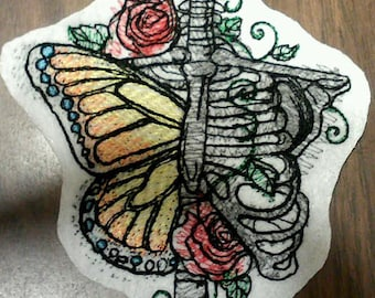 Bones and butterfly's patch