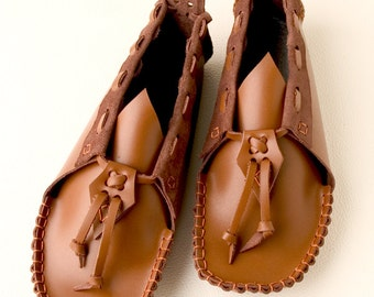 Erika Moccasin Leather Sewing DIY Shoes sizes 36-42 EU - PDF. pattern and photo - video tutorial