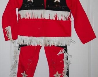 Boy's Vintage Cowboy Outfit - Size 7