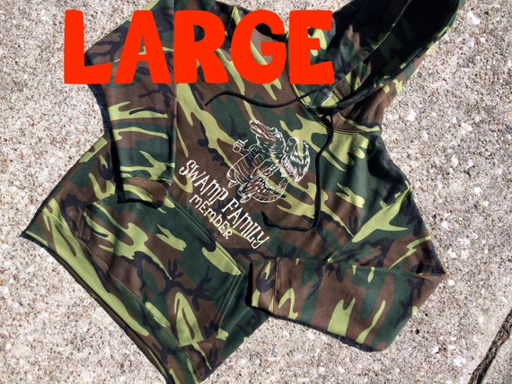 LARGE gator CAMO colored HOODIE