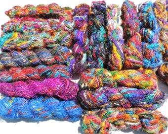 Beautiful and Colorful Sari Yarn Between 85 To 100 Yards Great Price