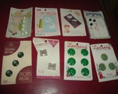 Vintage Buttons On Original Cards Lansing / Le Chic/  Blue Bonnet / Luckyday / Ultra Kraft