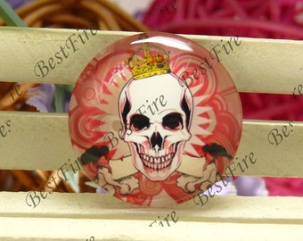 10mm,12mm,14mm,16mm,18mm,20mm,25mm,30mm Round Glass Cabochons Skull,jewelry Cabochons finding beads,Glass Cabochons,skull Cabochons--09