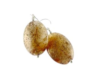 Agate Earrings, Gemstone Earrings, Statement Earrings, Oval Chunky Earrings, Gemstone Jewelry, Statement Jewelry