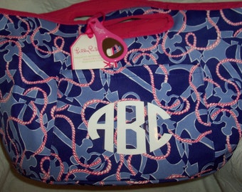 Personalized Lilly Pulitzer BOOZE CRUISE Large Cooler Bucket Tote