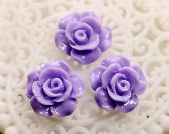 50% off - Wholesale Beautiful   Colorful Rose Flower Resin Cabochon   - -12mm(CAB-AK-38)