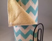 Snapping UnPaper Towels - Medium Aqua Chevron