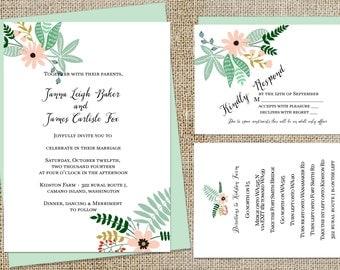 Bouquet Wedding Invitations