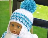 Crochet Ear Flap Hat Pattern, Crochet Baby  Boy Pattern, Crochet Hat Pattern, Hayden Ear Flap Hat