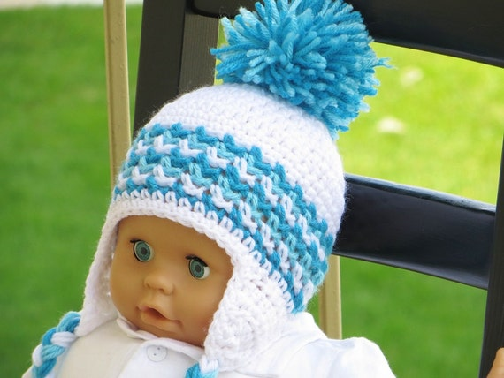 Free Crochet Pattern Toddler Hat Ear Flaps : Crochet Ear Flap Hat Pattern Crochet Baby Boy Pattern