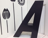 Salvaged Sign Letter, Black A