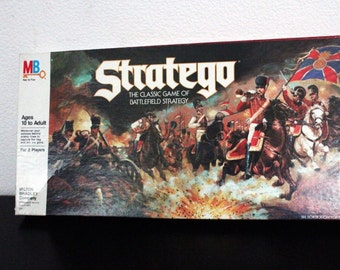 Vintage Stratego Board Game by Milton Bradley 100% Complete