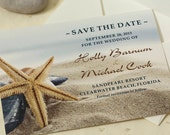 Starfish Wedding Save The Date, Beach Save The Date, Beach Wedding, DEPOSIT