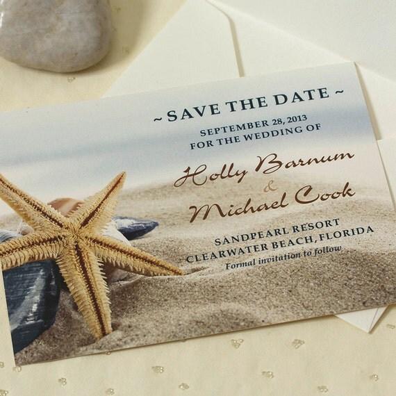 Starfish Wedding Save The Date, Beach Save The Date, Beach Wedding, DEPOSIT