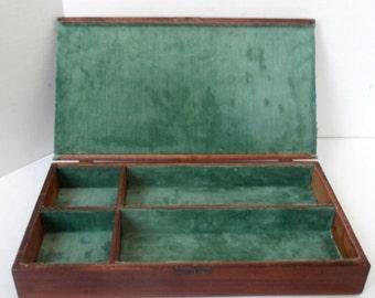 Vtg Wooden Desktop Box, Circa 1930s