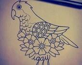 large custom tattoo design - by professional tattoo artist