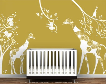 White Kids Playroom Wall Decal Set - Eat, Play and Sleep - Special Editions by LittleLion Studio