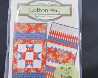 Fresh and Fancy Table Runner Pattern - July by Bonnie Olaveson