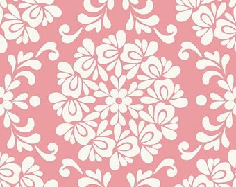 Priscilla Ball Pink c3363 - Lila Tueller - Riley Blake Designs Fabric - By the Yard