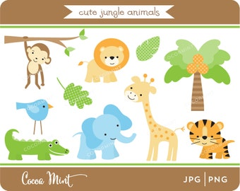Cute Jungle Animals Clip Art