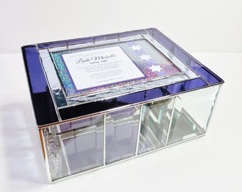 Stained Glass Keepsake Gift Box Bat Mitzvah Wedding Invitation Wedding Reception Card Holder 50th Anniversary Handmade Made-to-Order