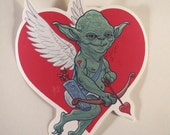 Yoda Cupid waterproof sticker