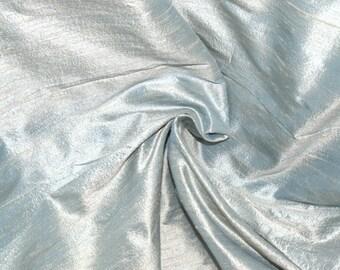 Silk Dupioni in Pale  Eton Blue -  Extra Wide half yard - DEX  222 A