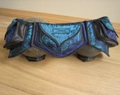 Blue Mermaid - Pocket Belt - Utility belt - Festival belt - Hip bag - Bohemian - Burlesque - Burning man - Renaissance - Fanny pack